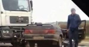 ДТП на трассе «Симферополь – Керчь». Легковушка попала под грузовой MAN