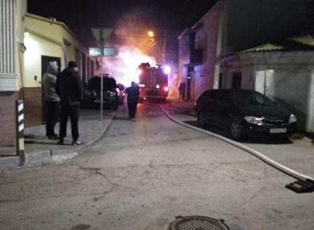 Ночной пожар в Евпатории