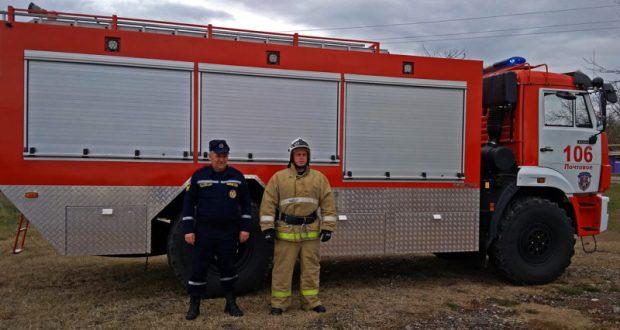 Крымские пожарные получили новый специализированный автомобиль