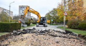 В Евпатории начались работы по реконструкции улицы Демышева