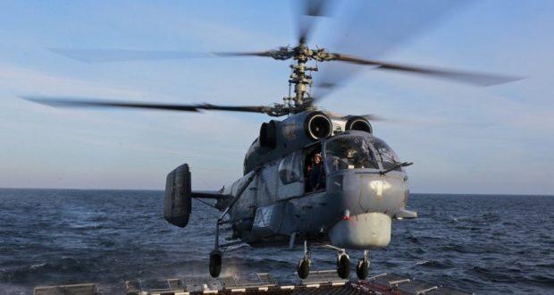 Вертолетчики Черноморского флота отработали посадку и взлет с палубы фрегата «Адмирал Григорович»