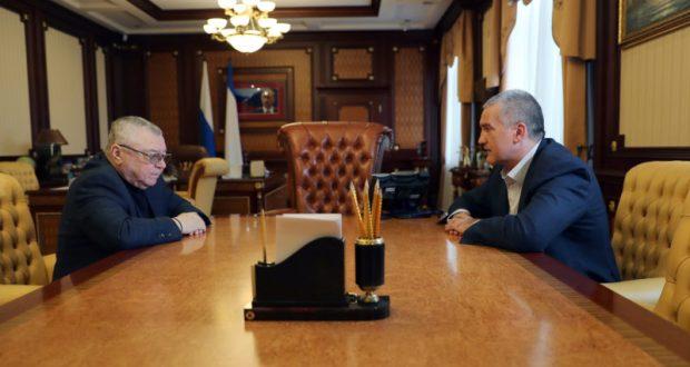 Сергей Аксёнов провёл рабочую встречу с Председателем Общественной палаты РК Григорием Иоффе