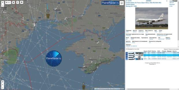 Самолет-разведчик ВВС США впервые пролетел над северной границей Крыма