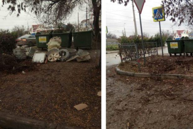 За выходные дни в Симферополе коммунальщики убрали 17 стихийных навалов мусора