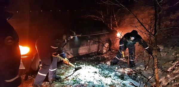 Инцидент на перевале Урбаш: с дороги вылетел Mercedes
