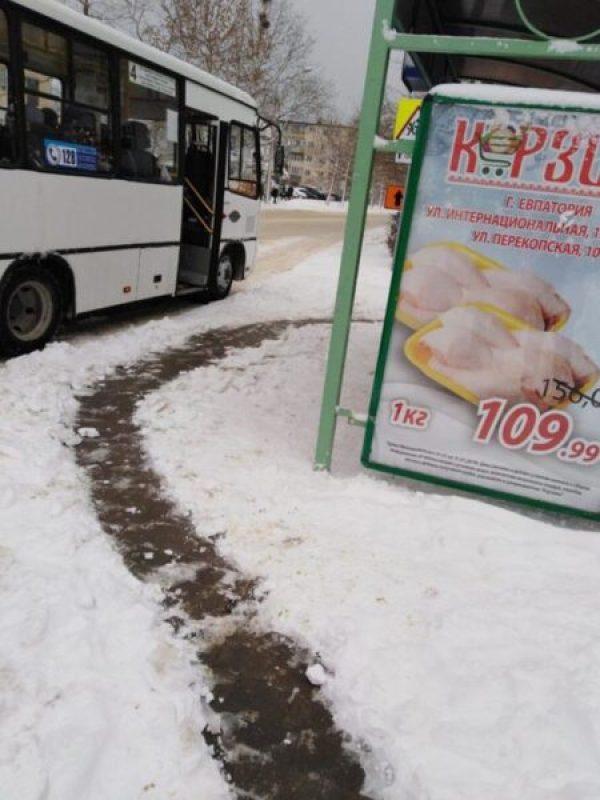 У коммунальщиков Евпатории с 4 января - аврал. Погода лютует