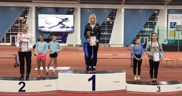 Виктория Дубина из Крыма - победитель первенства Санкт-Петербурга по легкоатлетическим многоборьям