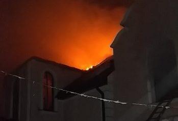 Пожар в с. Многоречье - горел двухэтажный дом