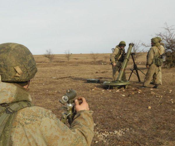 Учения армейского корпуса Черноморского флота в Крыму. Февраль 2019.