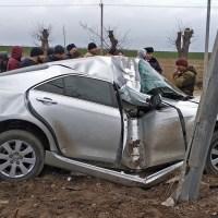 ДТП в крымском поселке Первомайское: иномарку «намотало» на столб