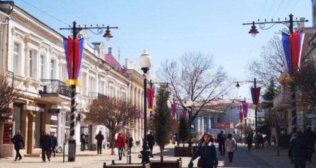 """Симферополь """"одели, умыли и украсили"""" к торжествам, посвящённым Крымской весне"""