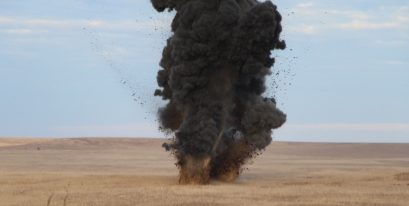 В Ленинском районе Крыма нашли и уничтожили три авиабомбы