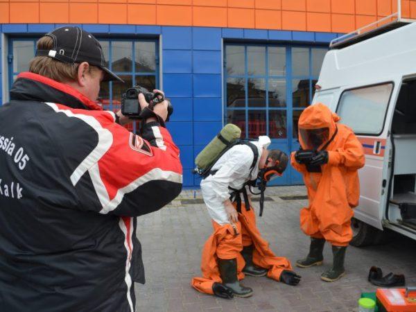 """В Севастополе сотрудники МЧС """"ликвидировали"""" разлив ртути"""
