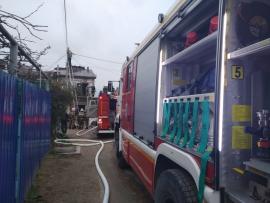 Пожар под Севастополем - горели частные строения