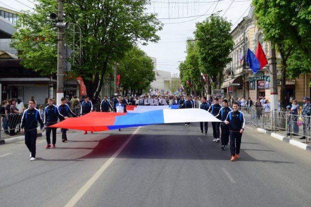 Первомай в Симферополе. В колонне крымских трудящихся шли иностранцы