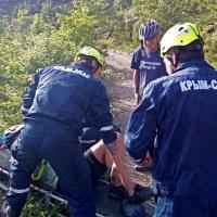 """Очередной велосипедист """"пал жертвой"""" сложного рельефа Ай-Петри"""