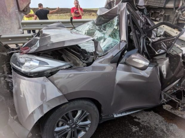 Массовое ДТП на трассе «Таврида». «Под замес» попали два грузовика и три легковушки
