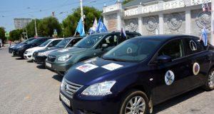 В Евпатории встретили автопробег, посвящённый сразу трём датам