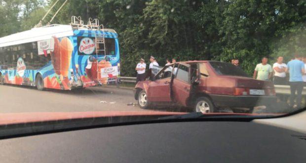 Момент смертельной аварии на трассе «Симферополь – Евпатория» попал на видео