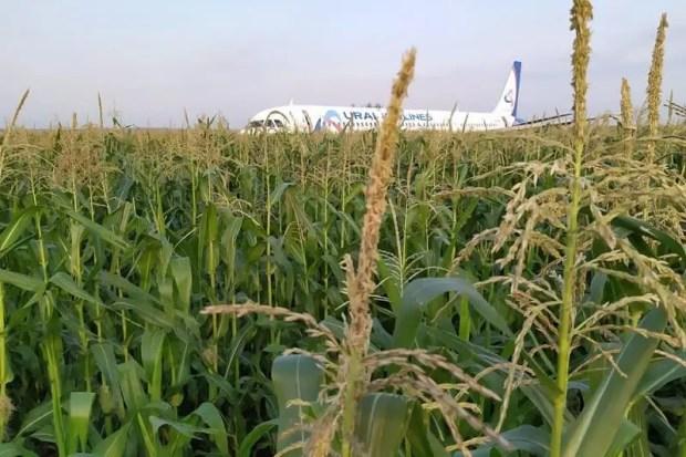Последствия жесткой посадки самолета, летевшего из Москвы в Симферополь