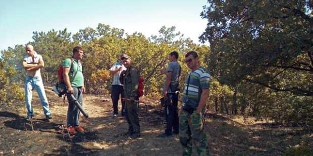 Лесной пожар под Феодосией. Выгорело три гектара
