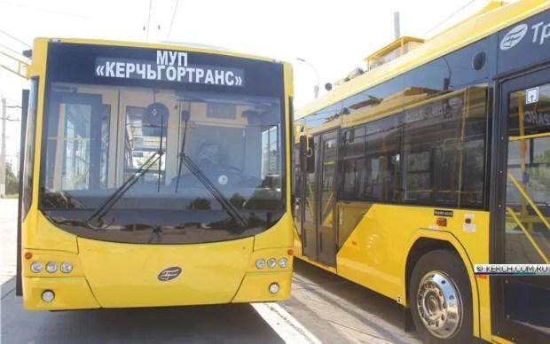 В Керчи на улицы города выходят новые троллейбусы