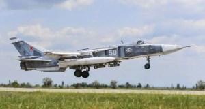 Экипажи Су-30СМ, Су-27 и Су-24М ЧФ выполнили практическое бомбометание на полигоне в Крыму