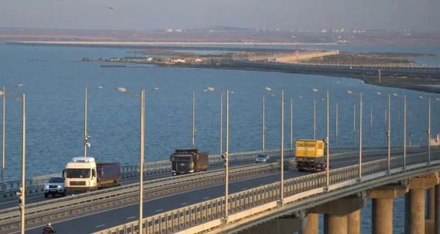 723 тысячи грузовиков проехали по Крымскому мосту за год