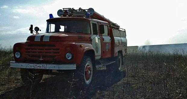 В Симферопольском районе разгорелись 4 пожара из 7, связанных с сухой растительностью