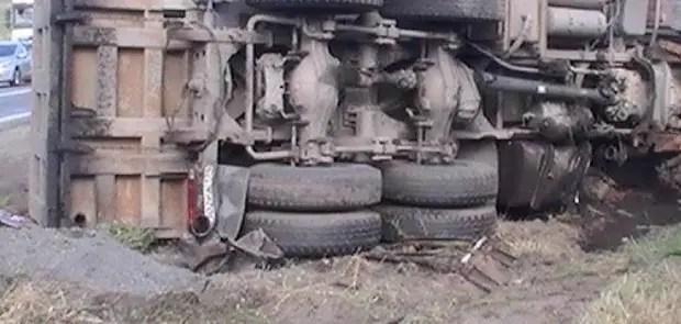 Полиция устанавливает обстоятельства ДТП с грузовиком в Симферопольском районе