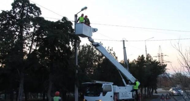 В Севастополе на улице Жидилова привели в порядок наружное освещение