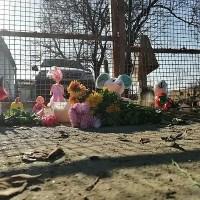 К дому Даши Пилипенко в крымском селе Кропоткино люди несут цветы и мягкие игрушки