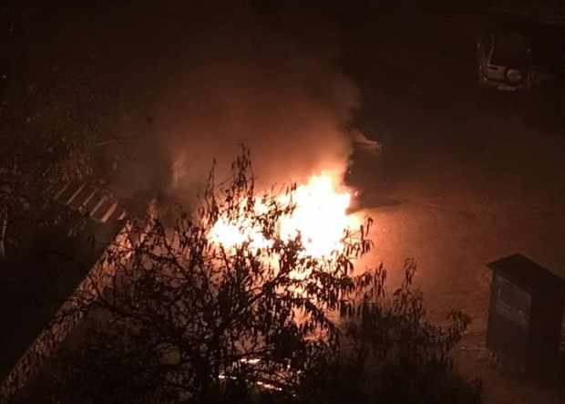 Ночной автопожар в Севастополе