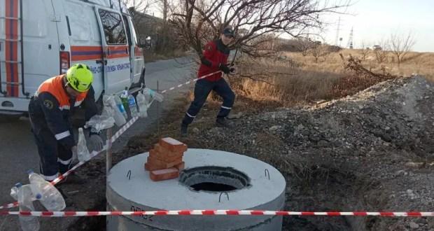 В Симферополе местный житель провалился в строительную яму. На помощь пришел «КРЫМ-СПАС»