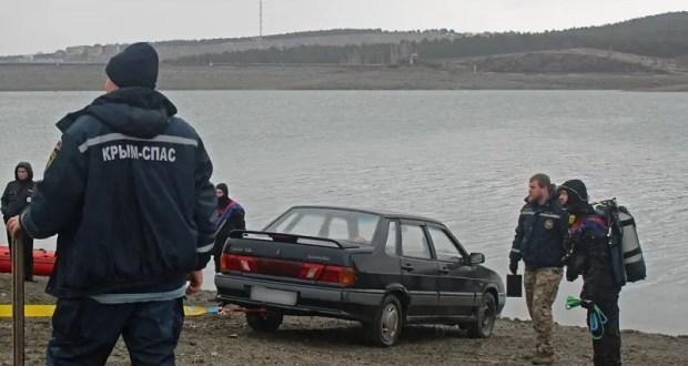 Подробности происшествия с автомобилем, затонувшем в Симферопольском водохранилище