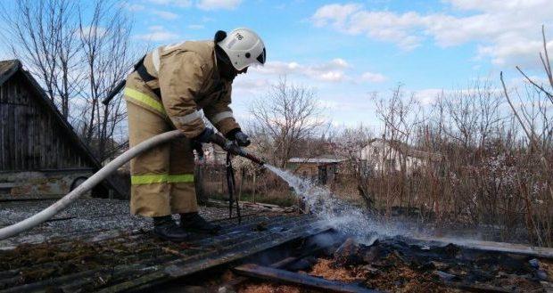 Пожар в Нижнегорском районе - следите за хозпостройками!