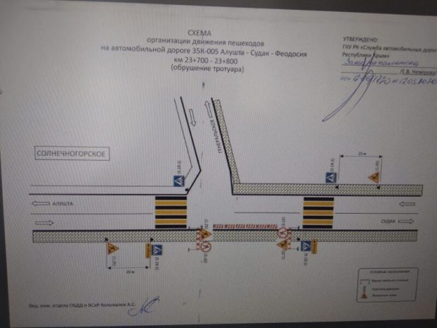Шторм повредил подпорную стену трассы «Алушта – Судак» в Солнечногорском