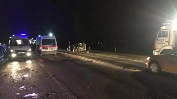 Вечернее ДТП на трассе «Симферополь – Джанкой»: девять человек пострадавших