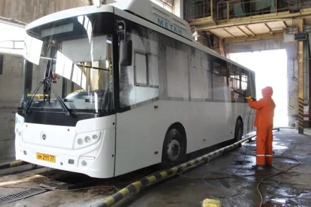 Севастопольский общественный транспорт проходит ежедневную дезинфекцию