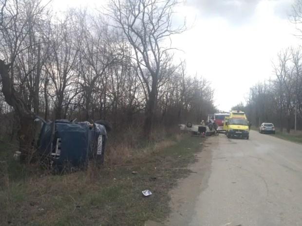 Еще одно субботнее участие ДТП с участием ВАЗа: серьезная авария в Нижнегорском районе Крыма
