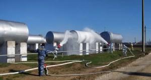 Учения крымских огнеборцев: «пожар» на Азовском топливном складе