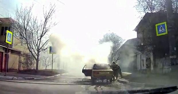 Автопожар в Симферополе: сгорели «Жигули»