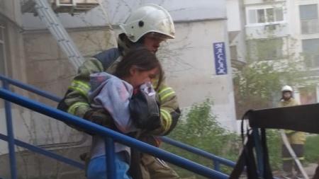 Пожар в Симферополе. Были эвакуированы 14 человек
