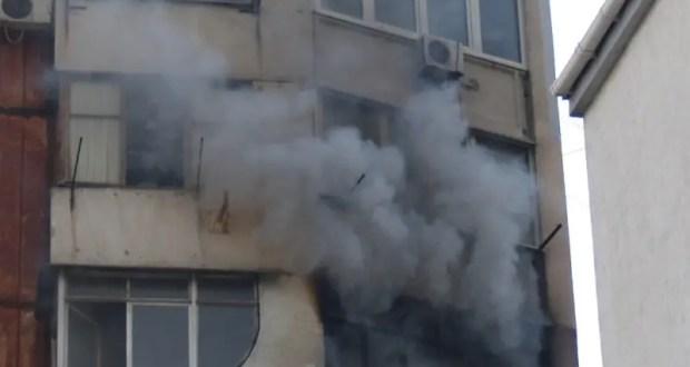 Утренний пожар в Ялте