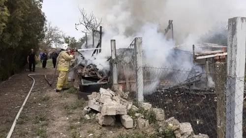 Пожар в Кировском районе Крыма