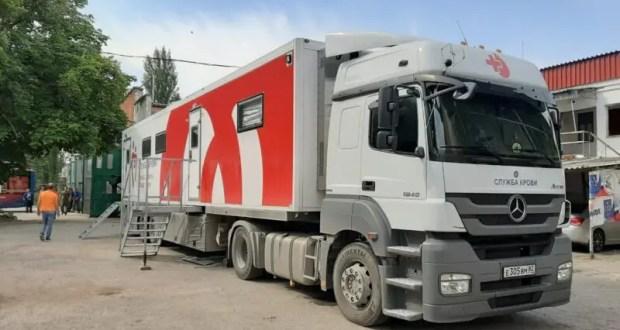 Сотрудники ГУП РК «Крымтроллейбус» стали донорами крови, не выходя за территорию предприятия