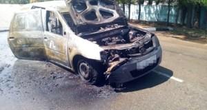 Автопожар в Бахчисарайском районе: в Песчаном сгорела «Лада Ларгус»