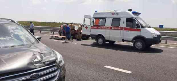 В ДТП на трассе «Таврида» пострадала женщина