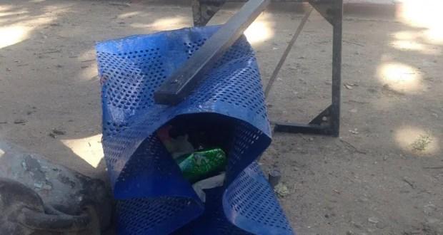 В Феодосии разыскивают вандалов, сломавших урны в Морсаду