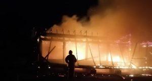 Ночной пожар в Коктебеле